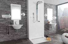 Installed Porcelanosa shower