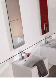 Installed Porcelanosa bathroom sink